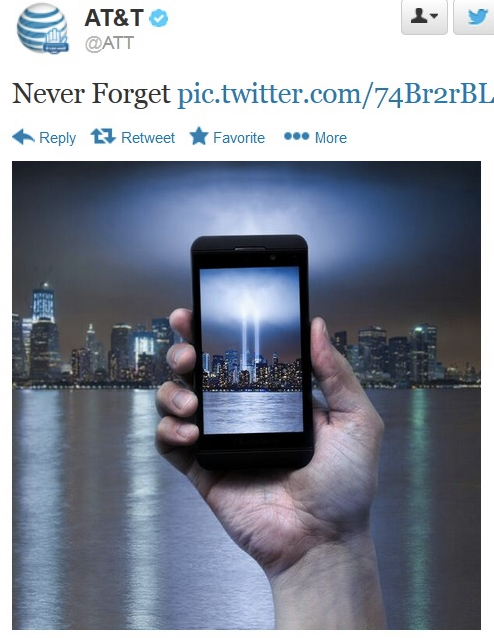 AT&T newsjacking fail on 9/11