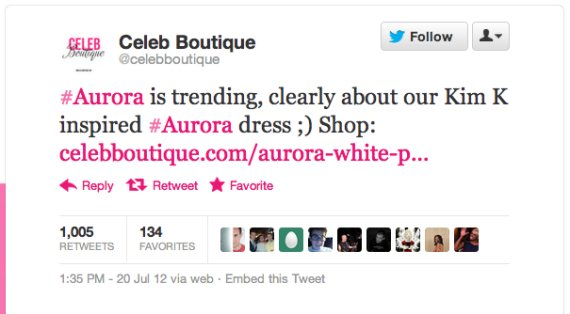 Celeb Boutique Aurora Newsjacking