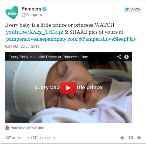 Pampers royal baby newsjacking