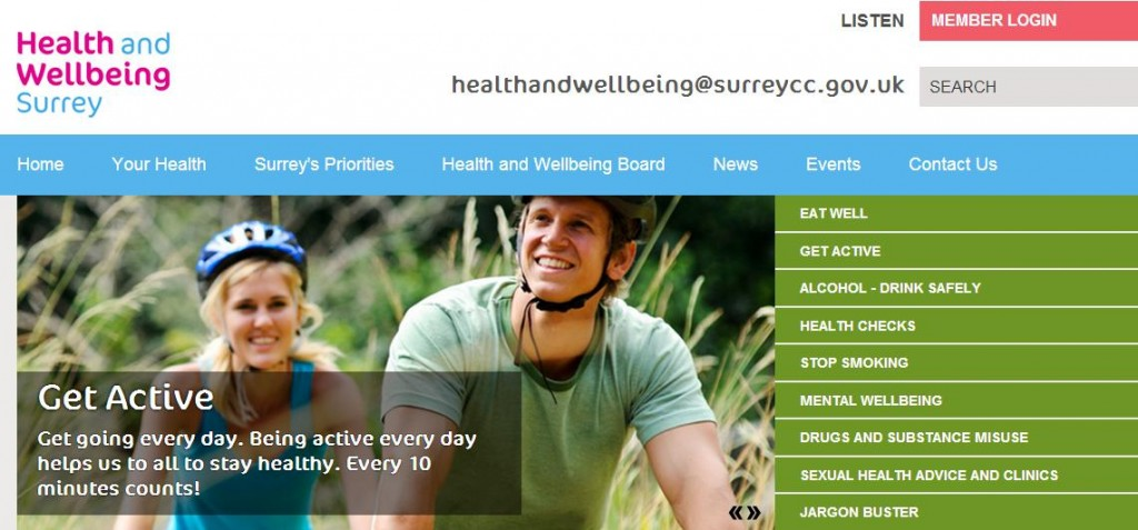 Thunderbolt Digital web design agency case study for Surrey County Council