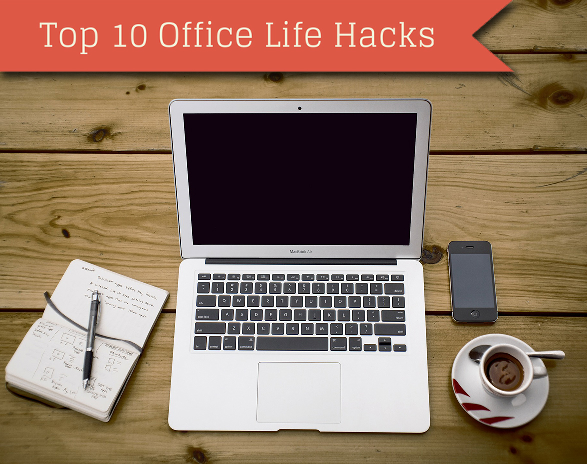 Top 10 office life hacks web design surrey for Top 10 office designs