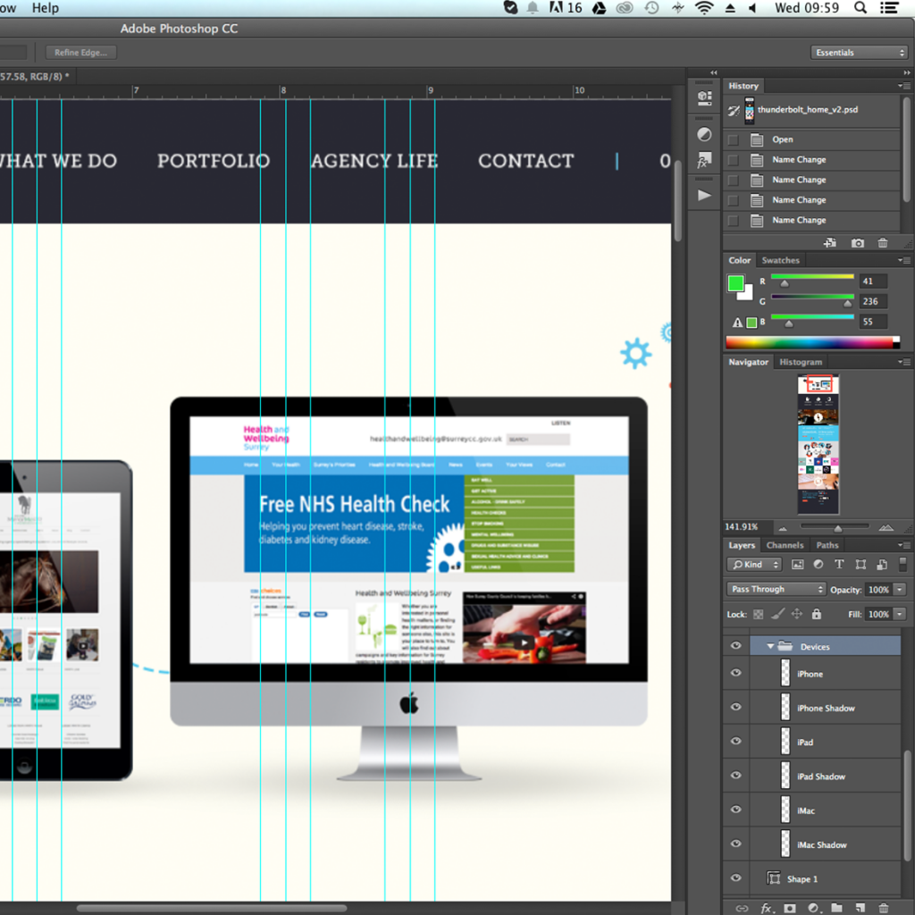 Name your Layers | Thunderbolt Digital | Web Design Surrey