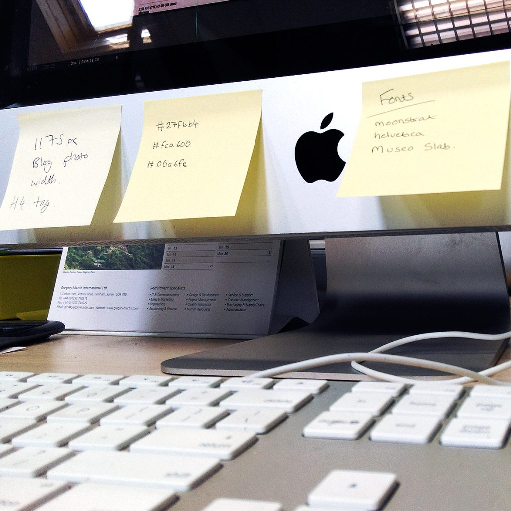 7. Use Post It Notes | Thunderbolt Digital | Web Design Surrey