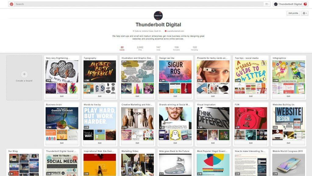 Thunderbolt Pinterest | Web Design Camberley