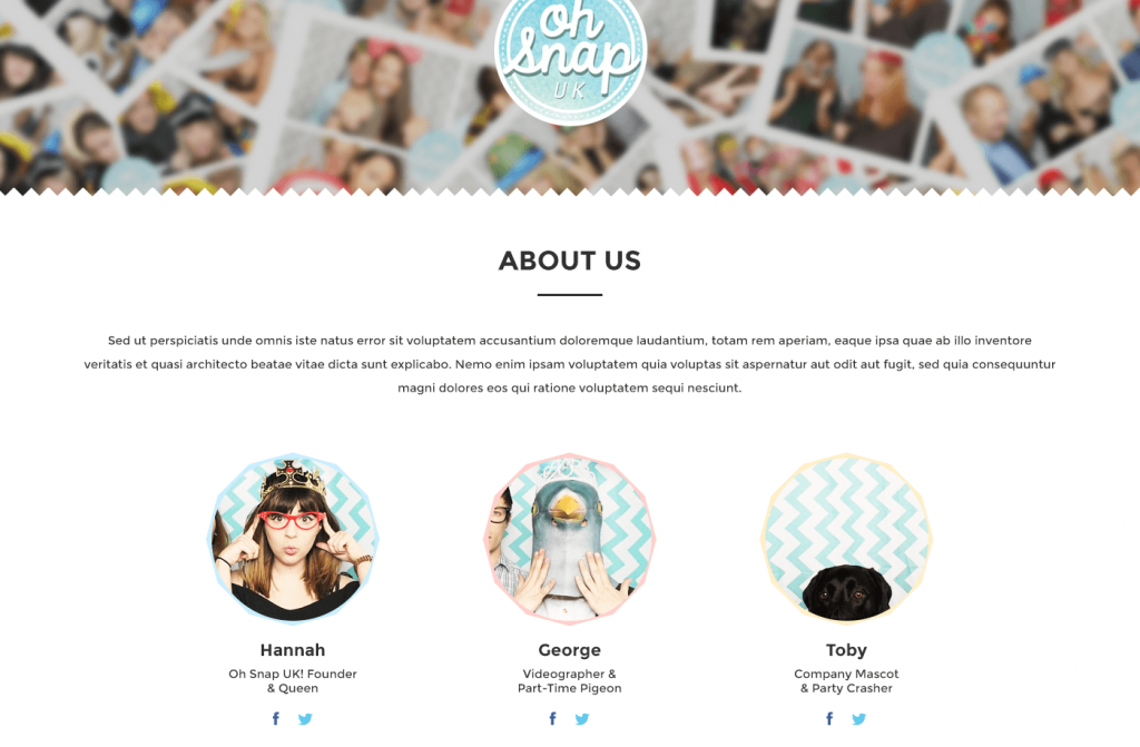 Oh Snap About Us Page | Web Design Farnham | Digital Marketing