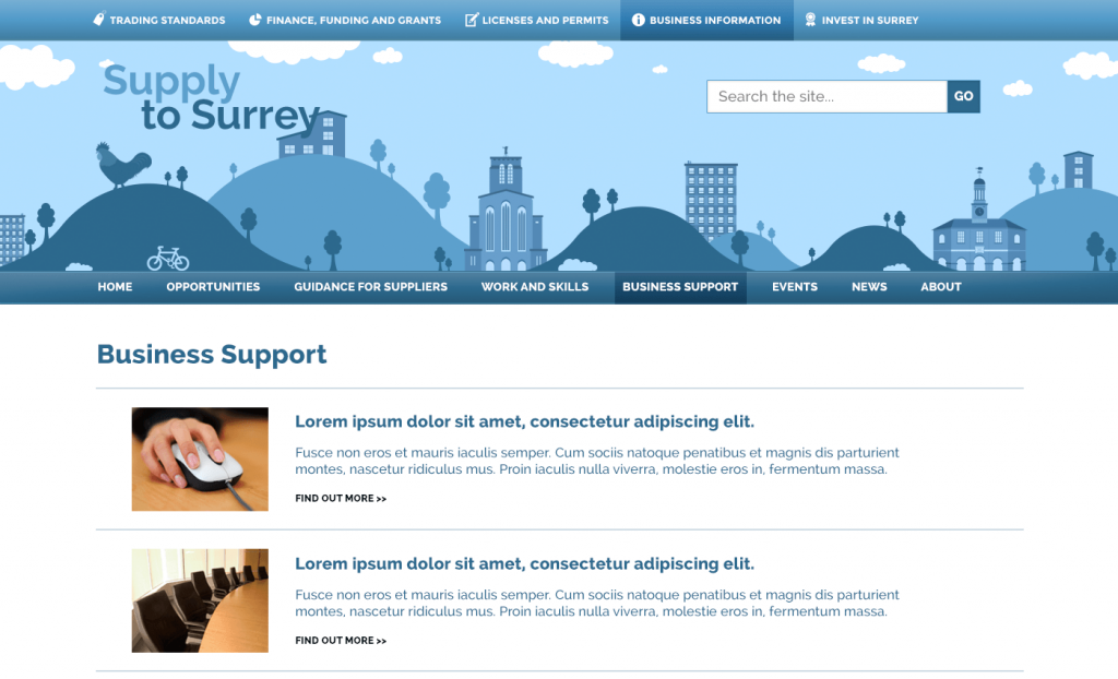 Supply to Surrey Website | Web Design Surrey | Thunderbolt Digital