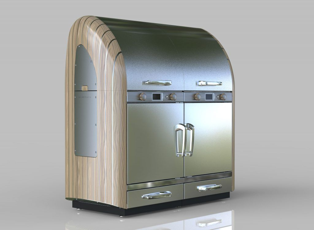 A render of the finished Aemyrie outdoor oven