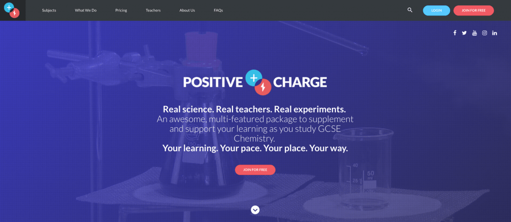 Positive Charge Homepage | Web Development Surrey