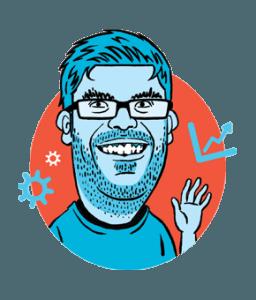 Our Head of Creative Jason's Thunderbolt caricature