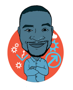 Our Paid Search Manager Francis' Thunderbolt caricature